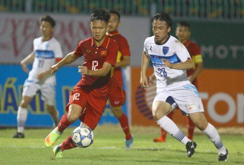 CHÙM ẢNH: U19 Việt Nam kiên cường chống chọi lại với sức mạnh khủng khiếp của U21 Yokohama
