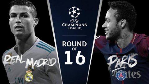 Kết quả bốc thăm vòng 16 đội Champions League: Real đại chiến PSG; Chelsea tái ngộ Barca
