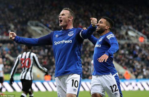 """Ghi bàn như máy, """"kẻ hết thời"""" Rooney tiếp tục giúp Everton """"rũ bùn đứng dậy sáng lòa"""""""