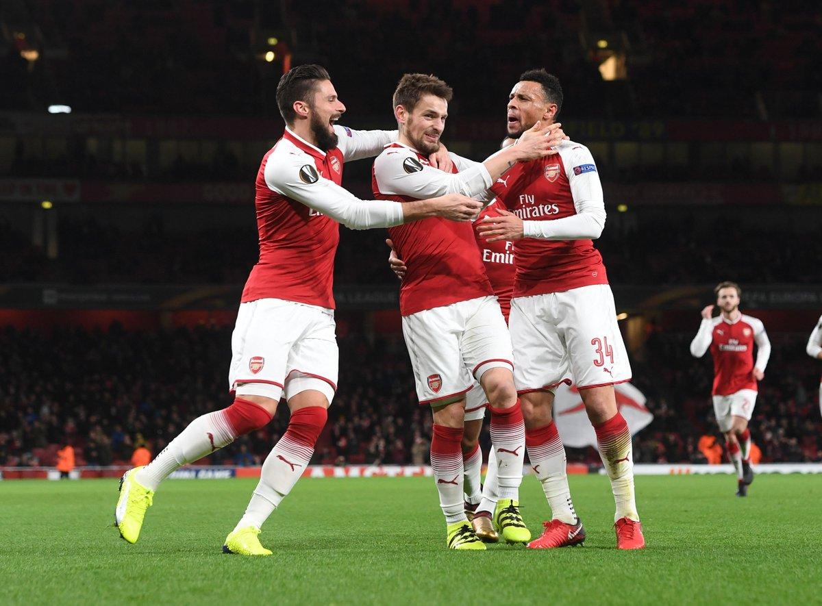 """Tất cả bị dồn nén sau trận thua trước Man Utd, Arsenal trút giận lên BATE Borisov với một """"set tennis"""""""