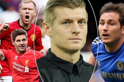 Phải chọn ra tiền vệ xuất sắc nhất bóng đá Anh; Kroos trả lời chắc nịch khiến tất cả phải bất ngờ