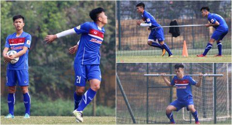 CHÙM ẢNH: Sau dịp nghỉ Giáng Sinh ngắn ngủi, U23 Việt Nam ngay lập tức trở lại luyện tập bài 'kéo xe' rèn thể lực