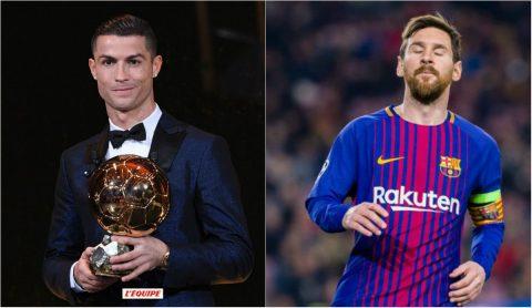 Giành QBV thứ 5 trong sự nghiệp, Ronaldo gửi lời thách thức tới Messi cho cuộc đua năm 2018