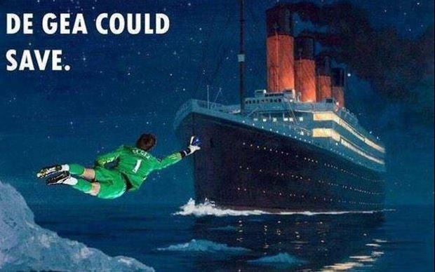 """CHÙM ẢNH chế: Có """"thánh"""" De Gea, thảm họa Titanic có thể đã chẳng xảy ra"""