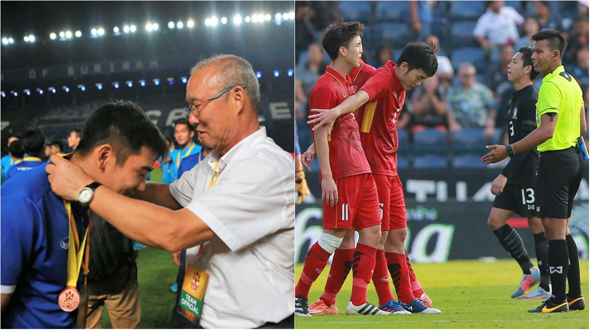 HLV Park Hang Seo và Xuân Trường để lại hình ảnh đẹp sau trận thắng U23 Thái Lan
