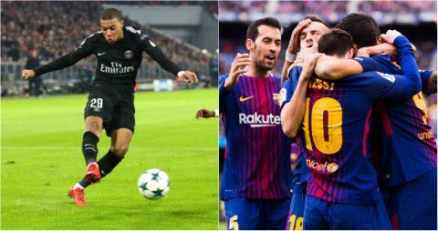 Ngả mũ trước 2 kỷ lục vô tiền khoáng hậu tại Champions League vừa được lập bởi Mbappe và Barca