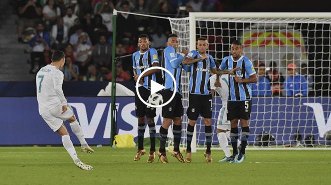 VIDEO: Cận cảnh siêu phẩm sút phạt đẹp nhất thế kỷ 21 của Ronaldo khiến cả thế giới điên đảo