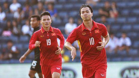2 lần phá lưới Thái Lan, Công Phượng trở thành cầu thủ hay nhất Việt Nam năm 2017
