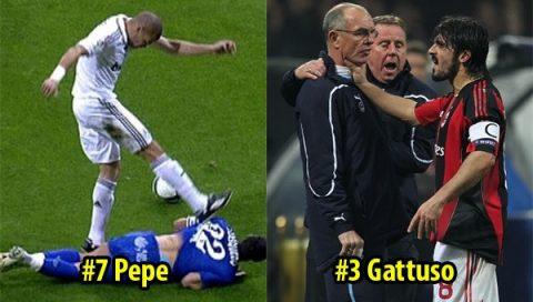 Top 10 nhân vật đáng sợ nhất làng bóng đá thế giới: Gattuso cũng chỉ xếp thứ 3, Pepe vẫn còn hiền chán!