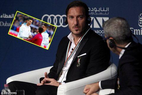 Totti: 'Đừng ai nói cho Ronaldo biết chuyện tôi bảo Messi là số một'