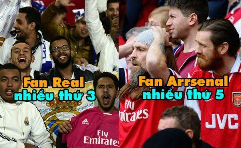 Top 7 CLB có lượng fan nhiều nhất thế giới hiện nay: Real chỉ đứng thứ 3, số 1 không phải bàn cãi!