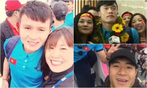 """CHÙM ẢNH: Các """"nam thần"""" U23 Việt Nam liên tục check-in Facebook trước tình cảm của NHM"""