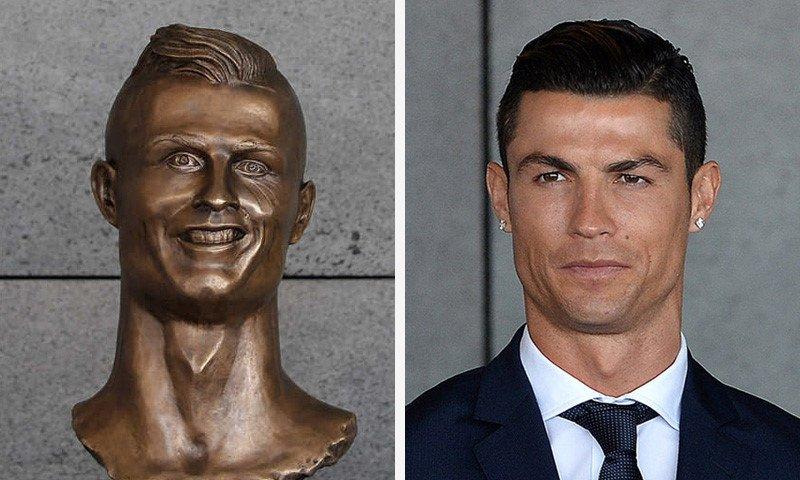 """Điểm mặt 9 bức tượng xấu đến nỗi """"ma chê quỷ hờn"""" của sao bóng đá thế giới"""