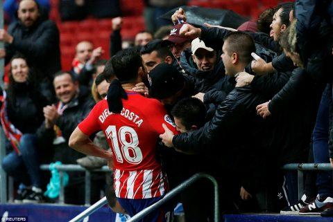 Diego Costa trải 6 phút điên rồ trong ngày tái xuất La Liga