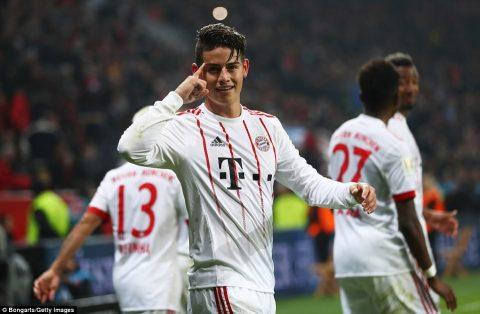 James Rodriguez chói sáng thần thánh, 'Hùm xám' đập nát tham vọng giải cứu Bundesliga của Leverkusen