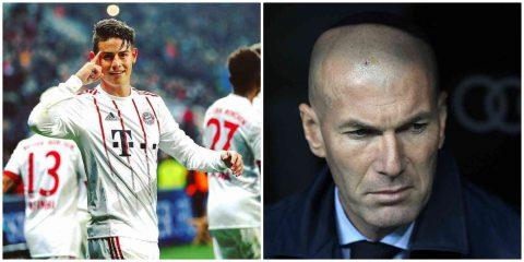 James Rodriguez phũ phàng: Khuyên chủ tịch Perez hãy sa thải Zidane ngay lập tức