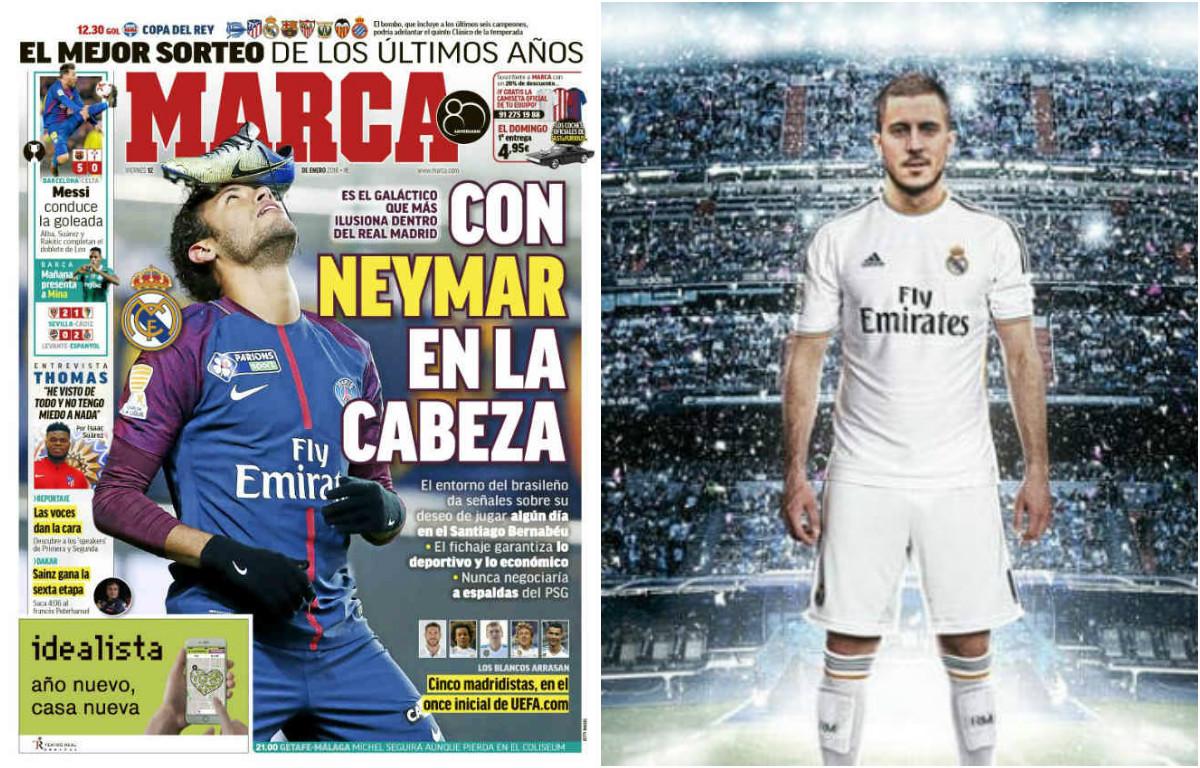 """Real nổ """"bom tấn kép"""" Neymar – Hazard: Ronaldo sẽ là """"vật tế thần"""""""