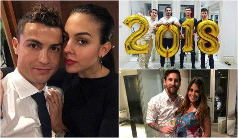 CHÙM ẢNH: Ronaldo, Messi và sao bóng đá đón năm mới như thế nào?