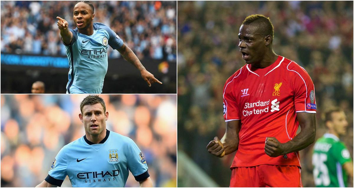 Sterling, Balotelli và 14 cầu thủ đã từng khoác áo cả Man City và Liverpool