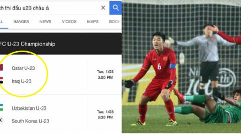 Khinh thường VN, cả Google và báo quốc tế nổi tiếng đưa sai thông tin rằng U23 Iraq thắng khiến fan phẫn nộ