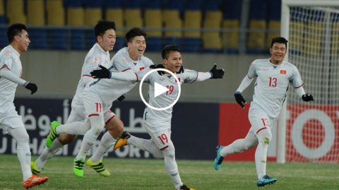 """VIDEO: Top 5 bàn thắng đẹp nhất vòng bảng U23 Châu Á; Quang Hải """"cô đơn"""" trên đỉnh"""