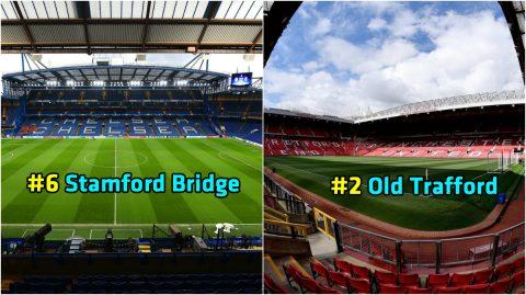 Top 10 sân vận động đẹp nhất Ngoại Hạng Anh hiện tại: Old Trafford không phải là nhất