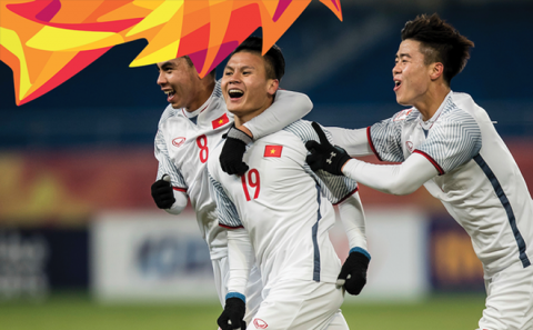 """Top 5 cầu thủ U23 Việt Nam xuất sắc nhất vòng bảng: Công Phượng """"quỳ gối"""" trước """"siêu dự bị"""" của thầy Park"""