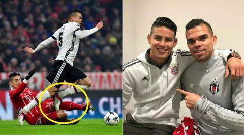 Va chạm nảy lửa trên sân nhưng sau trận đấu hành động này của James với Pepe khiến fan xúc động