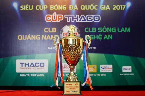 Hơn nửa tỷ đồng tiền thưởng tại trận Siêu cúp Quốc gia giữa SLNA vs Quảng Nam