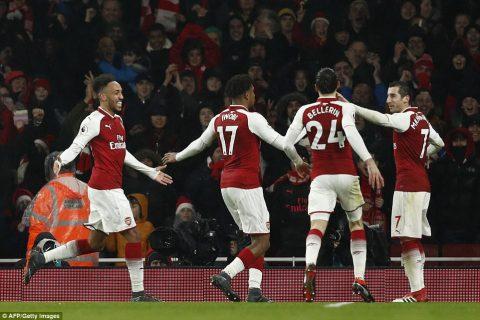 Aubameyang nổ súng, Mkhitaryan lập hat-trick kiến tạo, Arsenal nghiền nát Everton trên sân nhà