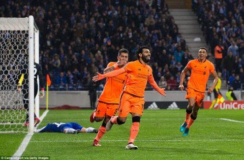 Tam tấu bùng nổ, Liverpool hủy diệt Porto với tỉ số không tưởng ngay trên sân đối thủ