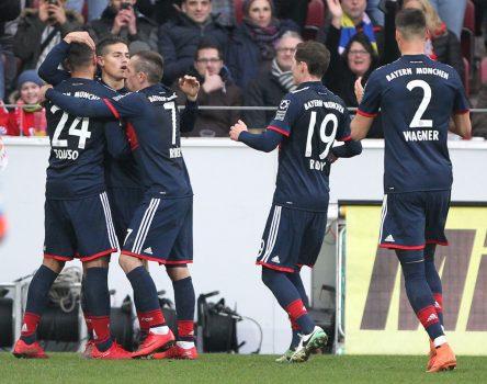 Sút tung lưới Mainz 05, Ribery và Rodriguez giúp Bayern giữ vững ngôi đầu