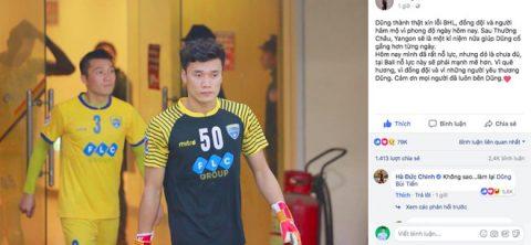 Bùi Tiến Dũng lên tiếng xin lỗi sau sai lầm khiến FLC Thanh Hóa thua ngược tại AFC Cup