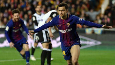 """""""Bom tấn"""" Coutinho nổ súng, Barca kéo sập Hang dơi lấy vé chung kết"""
