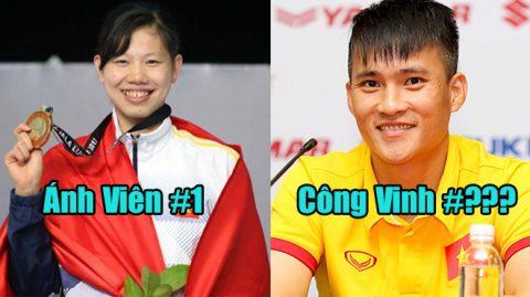 Top 7 VĐV Việt Nam tài năng và nổi tiếng nhất: Huyền thoại Công Vinh góp mặt nhưng vẫn thua xa top 1