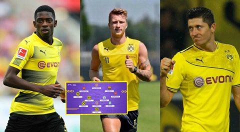 Đội hình 11 siêu sao cân cả trời Âu của Dortmund nếu không bán máu