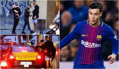 """Không được cùng đồng đội chinh chiến tại Cup C1, Coutinho còn phải """"hội ngộ"""" với cảnh sát đến 2 lần trong ngày"""