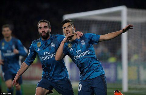 """Phá lưới Betis bằng cú đúp đẳng cấp, """"gà son"""" Asensio giúp Real chạm mốc lịch sử ở La Liga"""