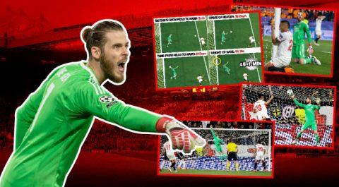 Pha cứu thua thần thánh của De Gea trước Sevilla lọt Top những màn cứu thua kinh điển nhất lịch sử
