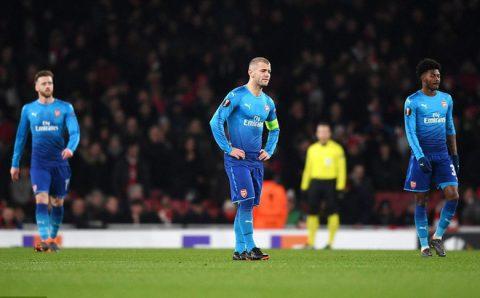 Lượt về vòng 1/16 Europa League: Dortmund hòa hú vía, Napoli dừng bước, Arsenal lãnh đòn đau từ đội bóng vô danh