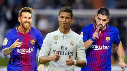 Cuộc đua Pichichi: Ronaldo và Suarez tăng tốc ngoạn mục đe dọa Messi