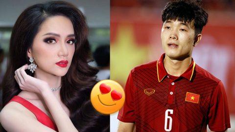 """Dàn U23 hào hứng chúc mừng hoa hậu Hương Giang, nhìn sang Đức Chinh ai cũng """"cạn lời"""""""