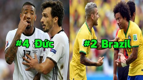 Top 10 hàng thủ nhưng lại giỏi tấn công nhất tại World Cup 2018: Đức, Brazil vẫn phải chào thua cái tên này!