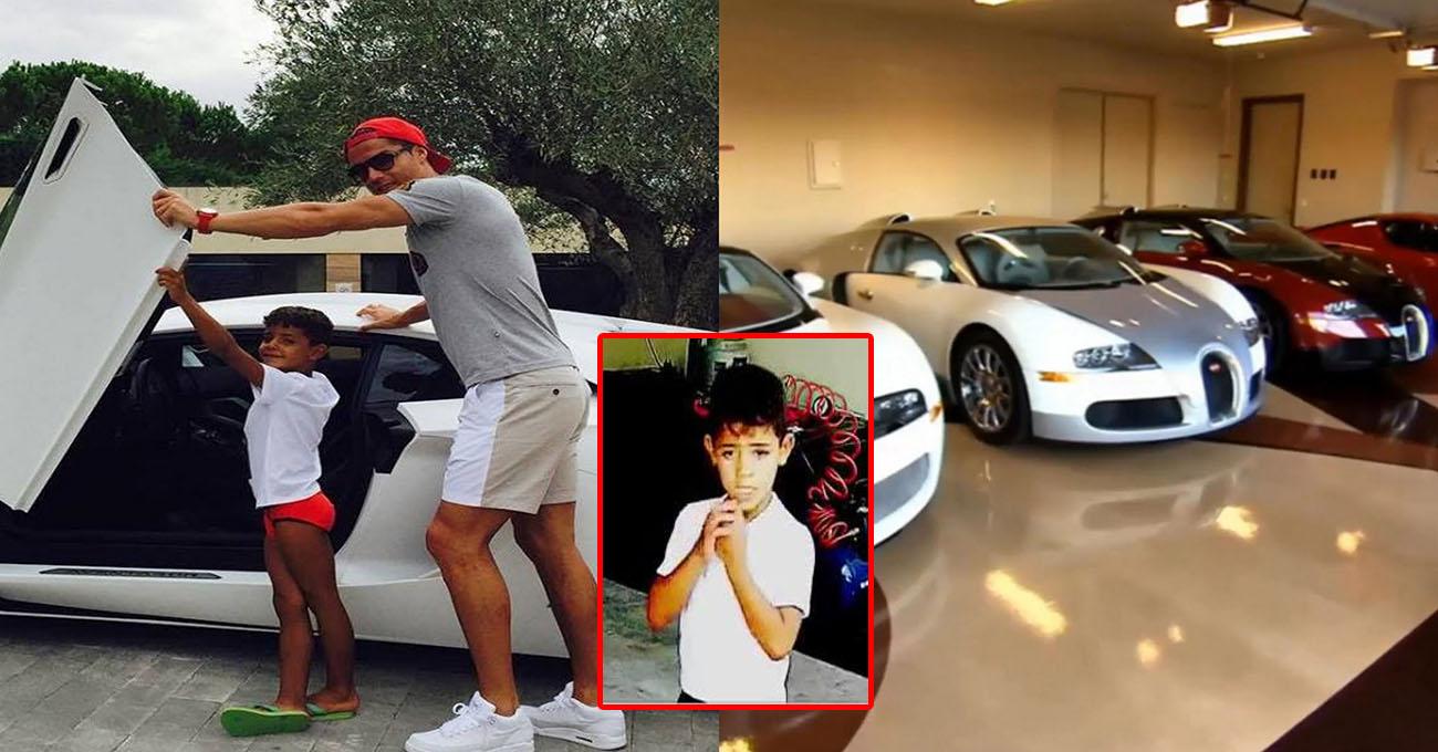 Vào Gara đếm số siêu xe của bố, con trai Ronaldo khóc ròng khi phát hiện ra sự thật gây SỐC này!