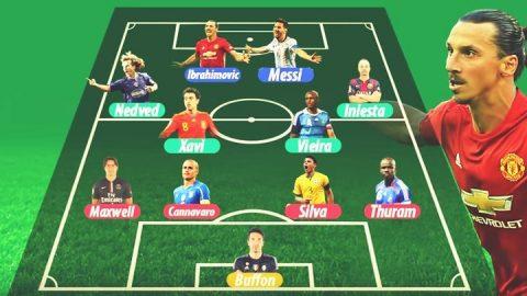 Ibrahimovic đích thân chọn ra đội hình trong mơ mạnh nhất vũ trụ: Bất ngờ khi cả 2 Ronaldo đều không góp mặt!