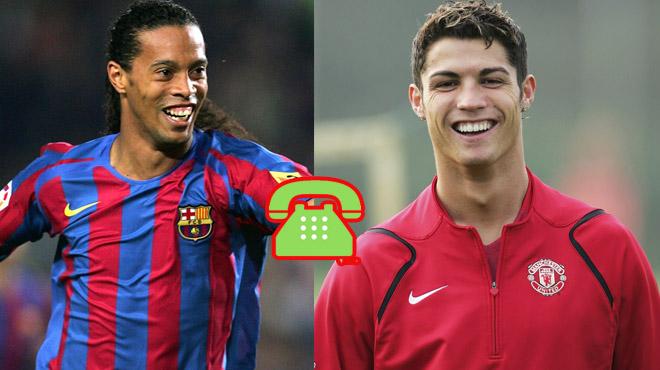 """TIẾT LỘ SỐC: Chỉ vì một cú điện thoại định mệnh đã """"đổi đời"""" cả MU, Barca lẫn Ronaldo và Ronaldinho"""