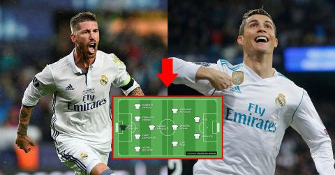 Đội hình vĩ đại nhất lịch sử Real Madrid: Nhiều huyền thoại đến mức Carlos, Rô béo cũng không cạnh tranh nổi!