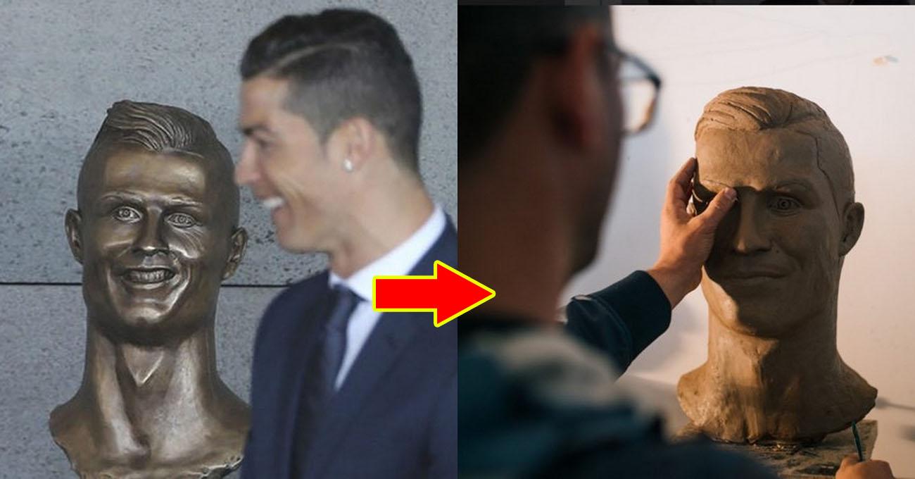 Há hốc mồm với siêu phẩm tượng mới đẹp lung linh của Ronaldo