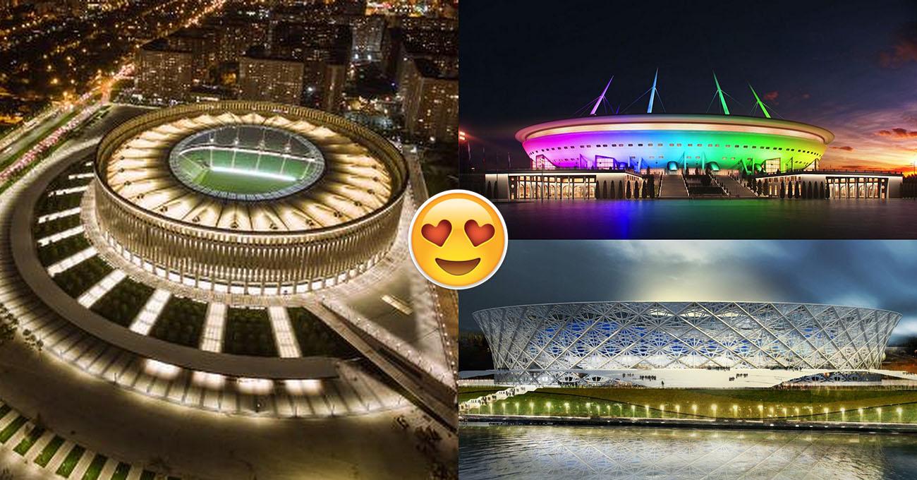 Choáng ngợp trước vẻ lộng lẫy và hoành tráng không thể tin nổi của 12 SVĐ tổ chức World Cup 2018