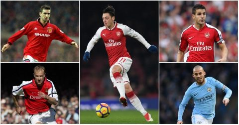 5 huyền thoại Ngoại hạng Anh đã bị Mesut Ozil vượt mặt, đó là những ai?
